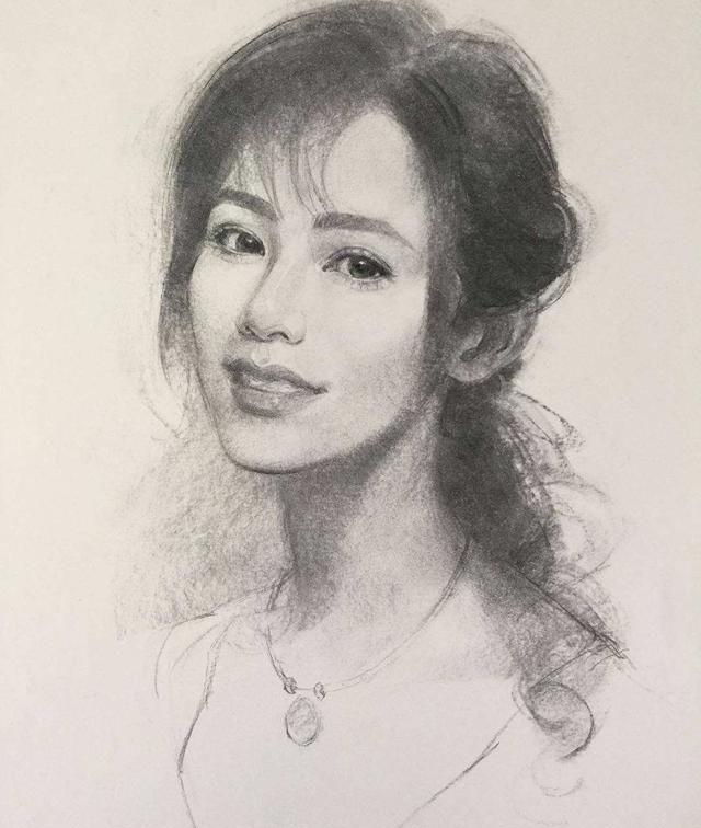 香港旅美艺术家Olive Sin肖像素描专辑